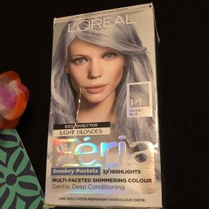 L'Oreal Feria Smokey Blue hair color for blondes